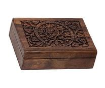 BOX - WOOD FILIGREE TREE OF LIFE 5x7 W/VELVET