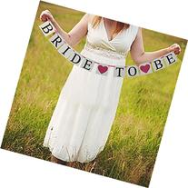 BRIDE TO BE hot pink Heart Wedding Banner Bunting Bridal
