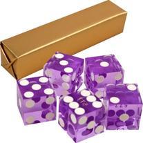 BSS - 19mm A Grade Serialized Set of Casino Dice-Purple