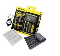 BUNDLE: Nitecore D4 Digi charger compatible with IMR LifePO4