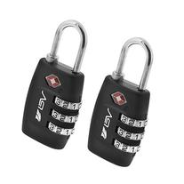 BV TSA Approved Travel Lock 2 Pack, 3 Digit Combination Lock