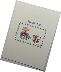 Baby Boy with Sheep Thank You Notes