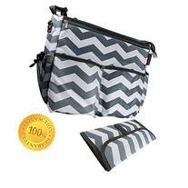 Catwald 11 Pockets Cotton Canvas Diaper Bag