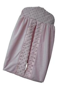Baby Doll Bedding Heavenly Soft Diaper Stacker, Pink