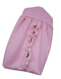 Baby Doll Bedding  Layered Crib Diaper Stacker, Pink