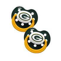 Baby Fanatic Pacifiers, Green Bay Packers, 2 Count