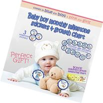 Baby Monthly Stickers Boy - place on onesies or on baby