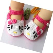 Baby Newborn Infant Girls Crochet Knit Socks Sandals Toddler