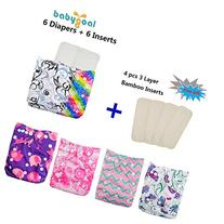 Babygoal Baby Adjustable Reuseable Pocket Cloth Diapers,