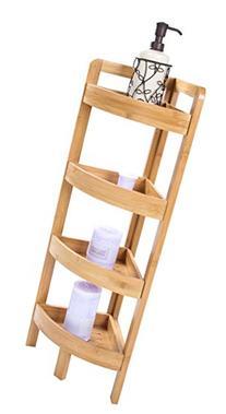 "31.5"" 4 Tier Bamboo Corner Storage Shelf By Trademark"