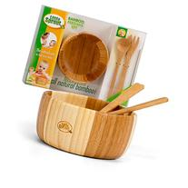 Bamboo Feeding Set 3pc includes Bowl, Spoon and Fork, BPA