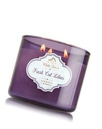 Bath & Body Works Candle 3 Wick White Barn Fresh Cut Lilacs