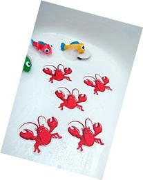 Bathtub Stickers Red Lobsters - Safety Decals Treads Non