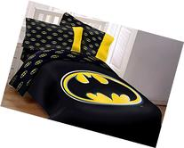 Batman Emblem 4 Piece Reversible Super Soft Luxury Twin Size