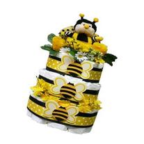 Bee My Baby Diaper Cake Gift Tower, Baby Girls