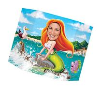 Beistle Mermaid Photo Property, 3-Feet 10-Inch by 25-Inch,