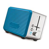 BELLA LINEA 2 Slice Toaster with Extra Wide Slot, Color Teal