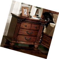 "Furniture of America CM7738N Bellagrand Oak Nightstand, 32"""