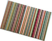 Benson Mills Rainbow Sticks Bamboo Multi Colored Placemats,