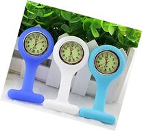 BestGrew® Set of 3 High Quality Unisex Nurses Lapel Watch