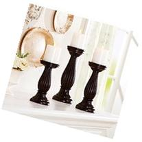 Better Homes and Gardens 3 Piece Mahogany Pillar Candle
