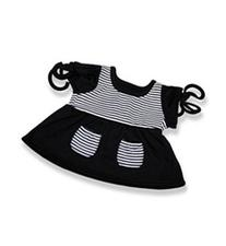 "Black Top with White Stripes - 6055 Fits 15"" - 16"" bears,"