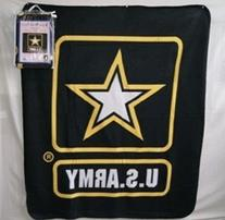 Black U.S. Army Star 50x60 Polar Fleece Blanket Throw