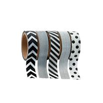 Black & White Patterned Washi Tape Set  Each Roll Includes