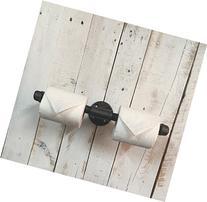 Black toilet roll holder, toilet paper holder, brushed