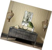 Blooming Wall: Faux Grasscloth Pattern Wallpaper Roll for