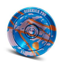 Blue Silver Gold Splashes Yo-Yo Professional Aluminum