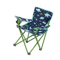 Blue and Green Folding Chair with Dinosaurs