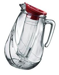 Bormioli Rocco Rolly Jug with Ice Container and Red Lid, 87-