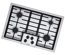 """Bosch - 500 Series 30"""" Built-in Gas Cooktop - Stainless"""