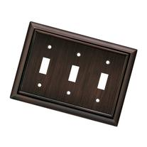Brainerd 64235 Architectural Triple Toggle Switch Wall Plate