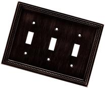 Brainerd 64408 Beaded Triple Toggle Switch Wall Plate /