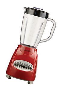 Brentwood JB-220R 12-Speed Blender Plastic Jar, Red