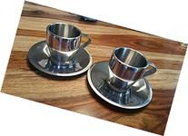 Breville Cafe Roma Stainless steel demi cups/saucers