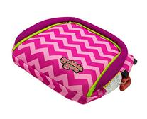 BubbleBum Travel Booster Car Seat, Pink Chevron