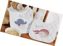 Bucilla Baby Stamped Cross Stitch Quilted Bib Kit, 9 by 14-