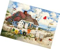 Buffalo Games Charles Wysocki - Root Beer Break at the Butterfields - 300 Large Piece Jigsaw Puzzle