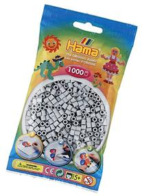 Bulk Buy: Hama Grey 207-17 Color Midi Beads 1,000 Count