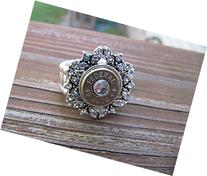 Bullet Ring with Rhinestones and Swarovski Crystal Accents