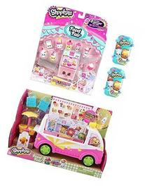 Bundle 4 Items: Shopkins Scoops Ice Cream Truck, Cool and