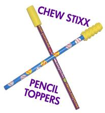 CHEW STIXX PENCIL TOPPERS CHOCOLATE FLAVORED