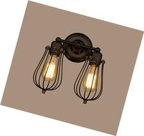 CLAXY Ecopower Vintage Style 2-lights Industrial Oil Rubbed