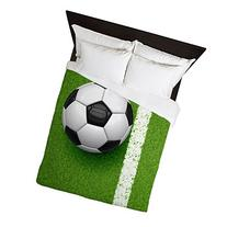 CafePress - Soccer Ball - Queen Duvet Cover, Printed