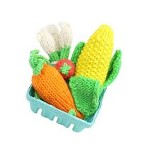 Camden Rose Knitted Play Food Set - Corn, Carrot, Tomato &