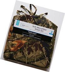 Camouflage Print Microfiber Twin Sheet Set