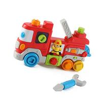 Cartoon Fire Truck Interactive Toy Tool Station for Toddlers